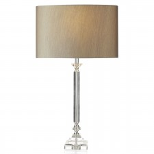 Sahara Table Lamp - Crystal/Clear c/w shade