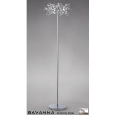 Diyas Savanna Floor Lamp 3 Light Polished Chrome/Crystal
