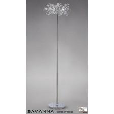 Diyas Savanna Floor Lamp 3 Light Polished Chrome/Crystal