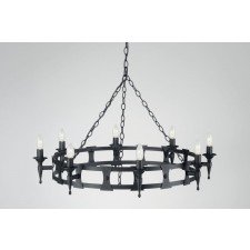 Elstead SAX8 BLK Saxon 8 - Light Chandelier Black