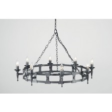Elstead SAX8 BLK/SIL Saxon 8 - Light Chandelier Black/Silver