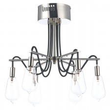 Dar Scroll 6-Light Semi Flush Polished Nickel