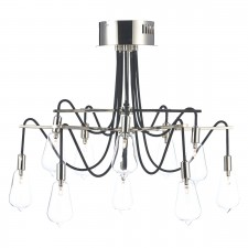 Dar Scroll 10-Light Semi Flush Polished Nickel