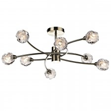 Seattle 8 Light Semi Flush - Antique Brass
