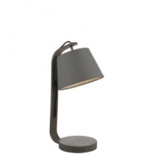 Zakara Table Lamp Grey Washed Wood complete with Grey Shade