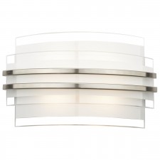 Sector LED Wall Light - Large, White, Opal Glass