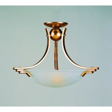 Impex Amora Ceiling Light Antique Brass - 2 Light