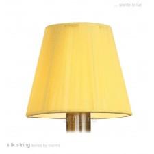 13cm Silk String Clip On Shade Amber Cream