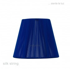 13cm Clip On Silk Shade Midnight Blue