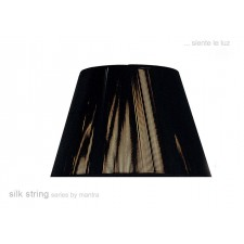 30cm Silk String Shade Black