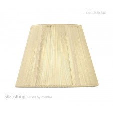 30cm Silk String Shade Ivory Cream