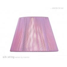 30cm Silk String Shade Lilac Pink