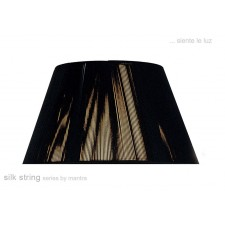 40cm Silk String Shade Black