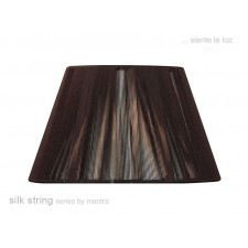 40cm Silk String Shade Dark Brown
