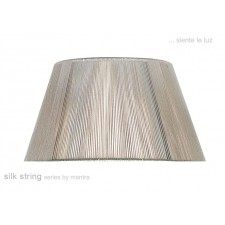 40cm Silk String Shade Silver Grey