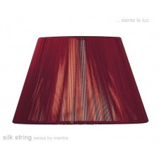 40cm Silk String Shade Red Wine