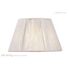 40cm Silk String Shade Ivory White