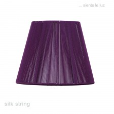 30cm Silk String Shade Aubergine