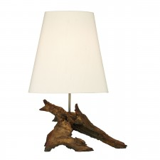 Sherwood Table Lamp (Base Only) - Natural Wood Effect