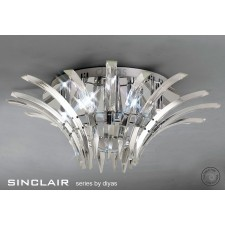 Diyas Sinclair Ceiling 6 Light Polished Chrome