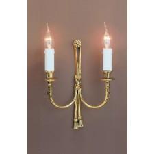 Impex Richmond Wall Light - 2 Light, Brass Plate & Gold Plate