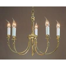 Impex Richmond Chandelier - 5 Light, Brass Plate & Gold Plate