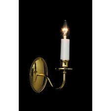 Impex Georgian Wall Light Polished Brass - 1 Light, Polished Brass and Gold