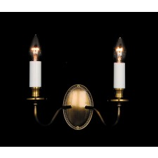 Impex Georgian Wall Light Bronze - 2 Light, Bronze
