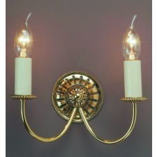 Impex Solar Wall Light Polished Brass - 2 Light