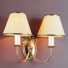 Impex Eden Wall Light - 2 Light, Brass Plate & Gold Plate