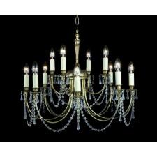 Impex Richmond Pendant Light Polished Brass - 12 Light