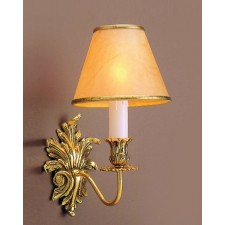 Impex Dauphine Wall Light Polished Brass - 1 Light