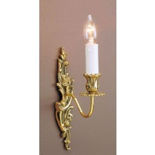 Impex Dauphine Wall Light - 1 Light, Brass Plate & Gold Plate
