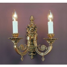 Impex Chelsea Wall Light Polished Brass - 2 Light