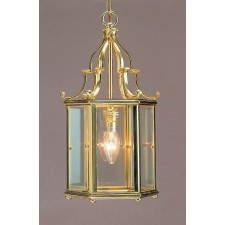 Impex Belgravia Lantern Polished Brass - 1 Light