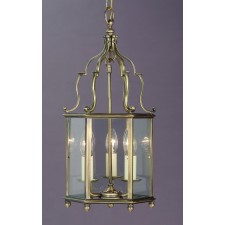 Impex Belgravia Lantern Antique Brass - 3 Light, Antique Brass