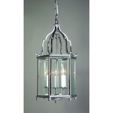 Impex Belgravia Lantern - 3 Light, Polished Chrome