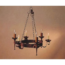 Impex Refectory Chandelier - 3 Light, Brown