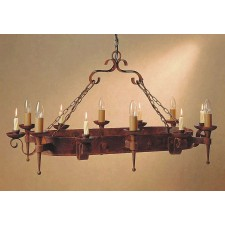 Impex Refectory Chandelier Aged - 6 Light