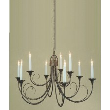 Impex Classica Chandelier Black Gold - 9 Light