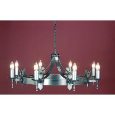 Impex Mitre Chandelier Sterling - 8 Light