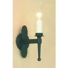 Impex Blenheim Wall Light Matt Black - 1 Light