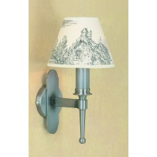 Impex Blenheim Wall Light Sterling - 1 Light