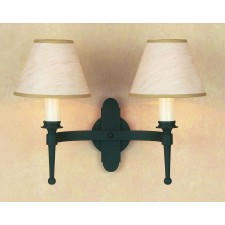 Impex Blenheim Wall Light Matt Black - 2 Light, Black