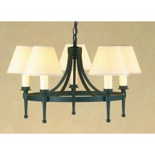 Impex Blenheim Chandelier Matt Black - 5 Light