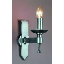 Impex Saxon Wall Light Sterling - 1 Light, Satin Chrome & Nickel