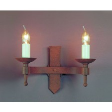 Impex Saxon Wall Light Aged - 2 Light