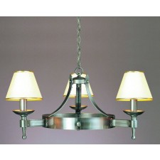 Impex Saxon Chandelier Sterling - 3 Light, Satin Chrome & Nickel