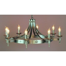 Impex Saxon Chandelier Sterling - 8 Light