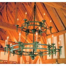 Impex Baronial Chandelier Aged - 18 Light